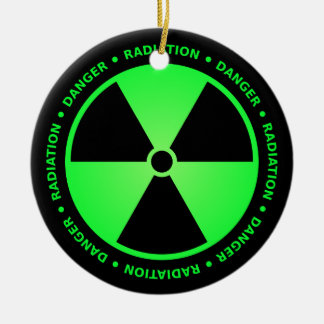 Green Radiation Warning Ornament
