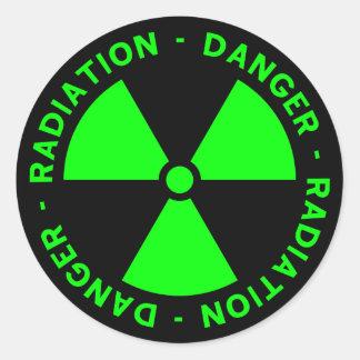 Green Radiation Warning Sticker