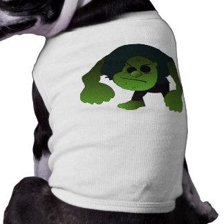 GREEN RAGE MAN DOG T-SHIRT