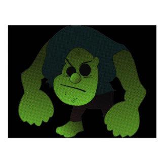GREEN RAGE MAN POSTCARD
