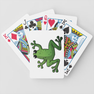 Green Rain Frog Bicycle Playing Cards