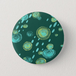 green rain funny abstract button