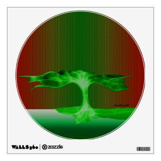 Green Rain Wall Sticker