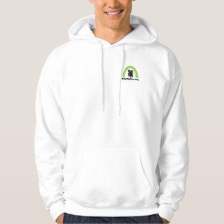 green rainbow hooded sweatshirt