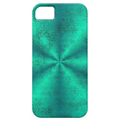 Green Rainbow in elephant Skin Leather Optic iPhone SE/5/5s Case