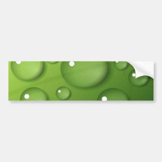 Green Raindrop Pattern Bumper Sticker