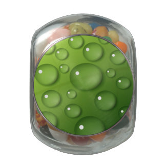 Green Raindrop Pattern Jelly Belly Candy Jars
