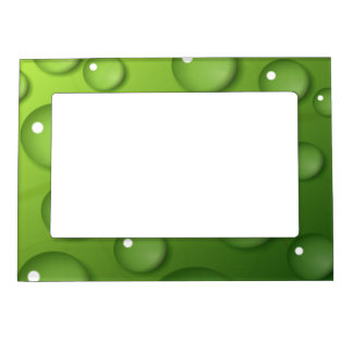 Green Raindrop Pattern Magnetic Picture Frame