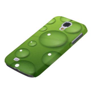 Green Raindrop Pattern Samsung Galaxy S4 Cover