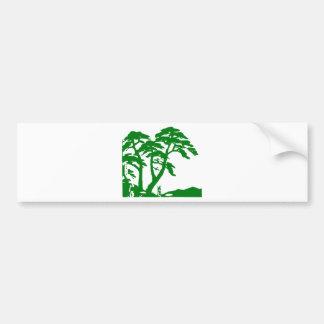 Green Rainforest Bumper Sticker