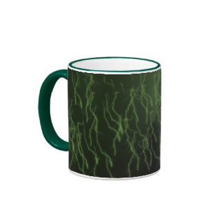 Green Raining Lightning Ringer Coffee Mug
