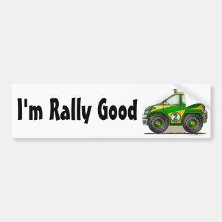 Green Rally Car I'm Rally Good Bumper Sticker