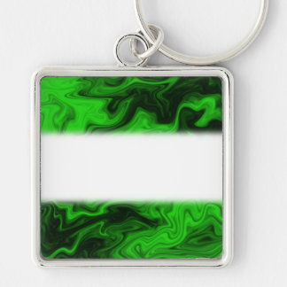 Green Random Abstract. Keychain