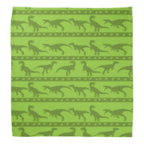 Green Raptor Pattern Bandana