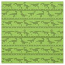 Green Raptor Pattern Fabric