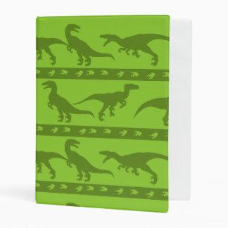 Green Raptor Pattern Mini Binder