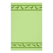 Green Raptor Pattern Stationery