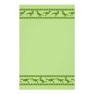 Green Raptor Pattern Stationery