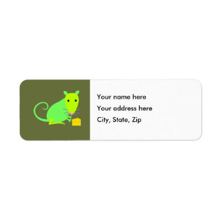 Green Rat Return Address label
