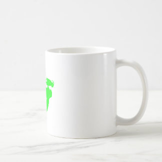 Green Raygun Coffee Mug