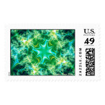 Green Razzle Dazzle Postage Stamps