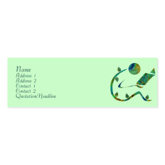 Green Reader Profile Cards Double-Sided Mini Business Cards (Pack Of 20)