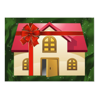 "green real estate  Holiday Cards 5"" X 7"" Invitation Card"