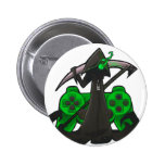 Green Reaper Badge 2 Inch Round Button