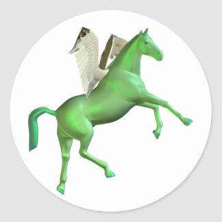 Green Rearing Pegasus Stickers