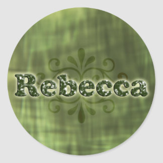 Green Rebecca Classic Round Sticker