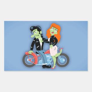 Green Rebel Bikers Rectangular Sticker