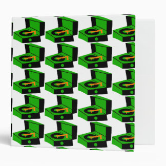 Green Record Player Houndstooth Binder