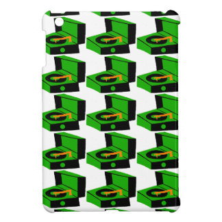 Green Record Player Houndstooth iPad Mini Case