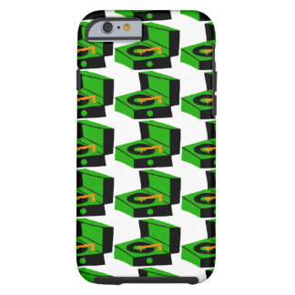 Green Record Player Houndstooth iPhone 6 Case