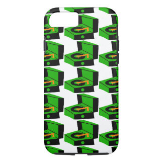 Green Record Player Houndstooth iPhone 7 Case