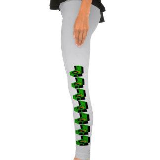 Green Record Player Houndstooth Leggings