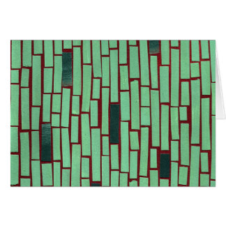 Green rectangle abstract pattern stationery note card