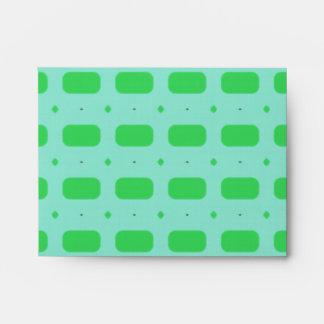 Green Rectangles Envelope