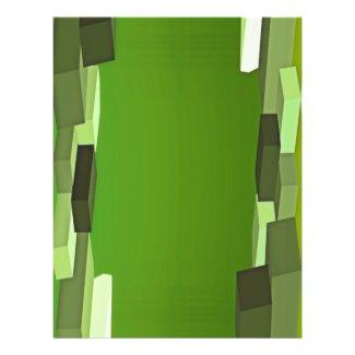Green Rectangular Transparent Template Flyer