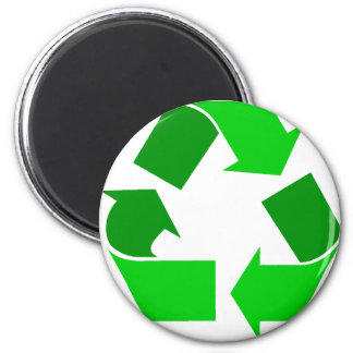 green recycle 2 inch round magnet