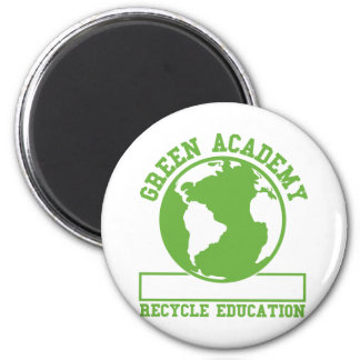 Green Recycle Academy 2 Inch Round Magnet