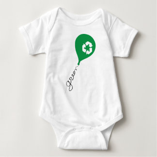 Green Recycle Baby Bodysuit