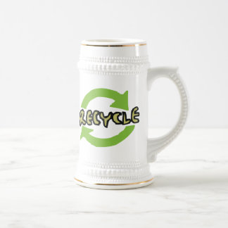 Green Recycle Beer Stein