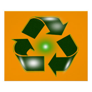 Green Recycle Logo Colossal Poster  Print
