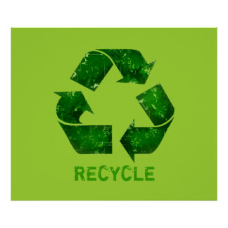 Green Recycle Logo Extra Large Poster