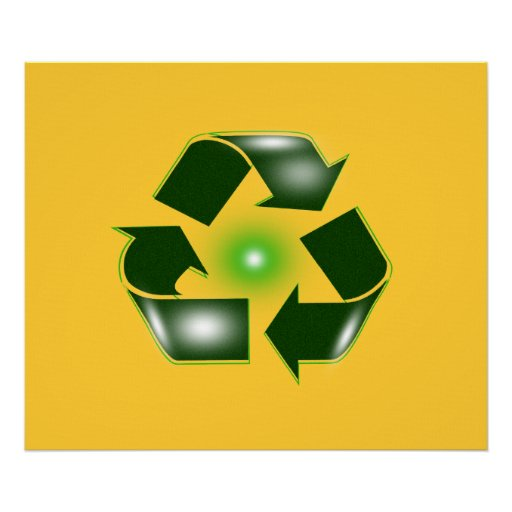 """Green Recycle Logo Large 27.42"""" x 23"""" Poster  Prin"""