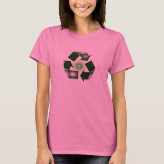 Green Recycle Logo Long Sleeve Shirt