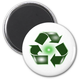 Green Recycle Logo Magnet