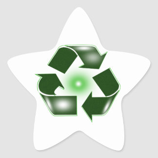 Green Recycle Logo Star Sticker