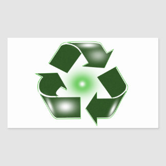 Green Recycle Logo Sticker
